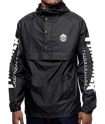 HUF x Thrasher TDS Black Anorak Windbreaker Jacket