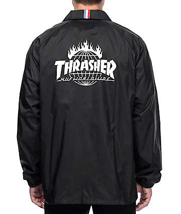 HUF x Thrasher TDS Black Coaches Jacket
