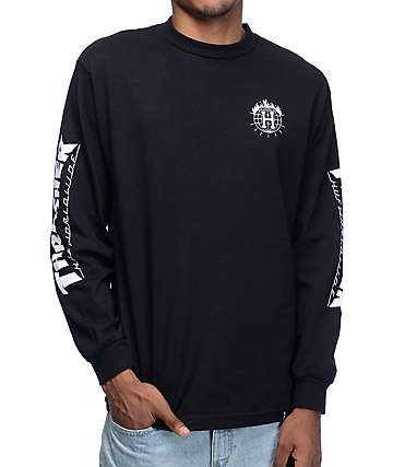 HUF x Thrasher TDS Black Long Sleeve T-Shirt