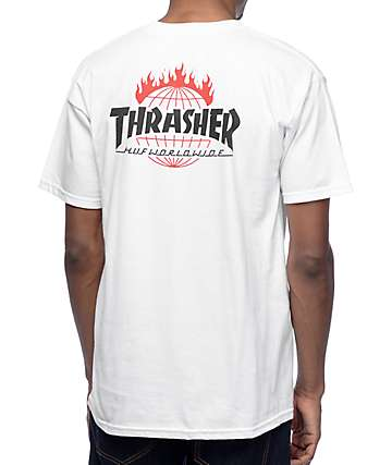 HUF x Thrasher TDS White T-Shirt