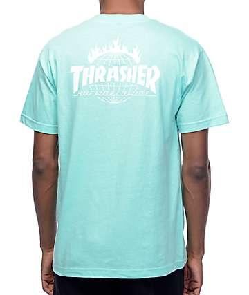 HUF x Thrasher TDS camiseta en color menta