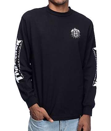 HUF x Thrasher camiseta negra de manga larga