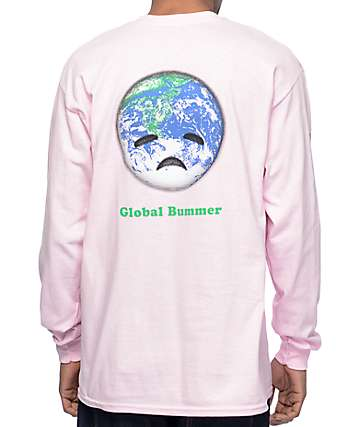 Habitat Global Bummer Pink Long Sleeve T-Shirt