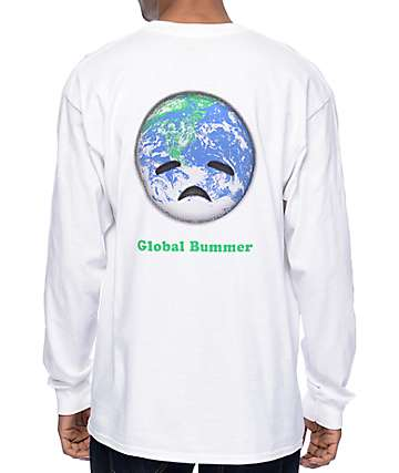 Habitat Global Bummer White Long Sleeve T-Shirt