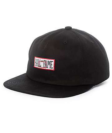 Hall Of Fame Backboard Black Strapback Hat