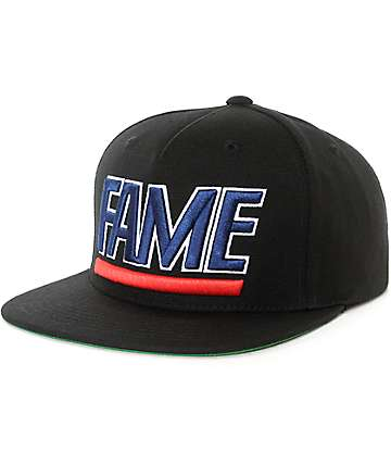 Hall Of Fame Block Black Snapback Hat