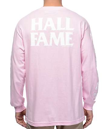 Hall Of Fame Bold Light Pink Long Sleeve T-Shirt