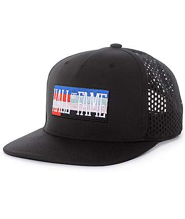 Hall Of Fame DIA Black Perforated Snapback Hat