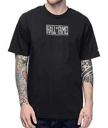 Hall Of Fame Logo Black T-Shirt