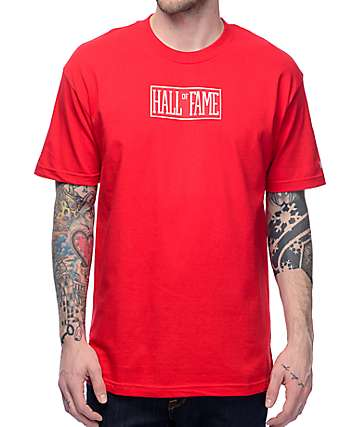 Hall Of Fame Logo Red T-Shirt