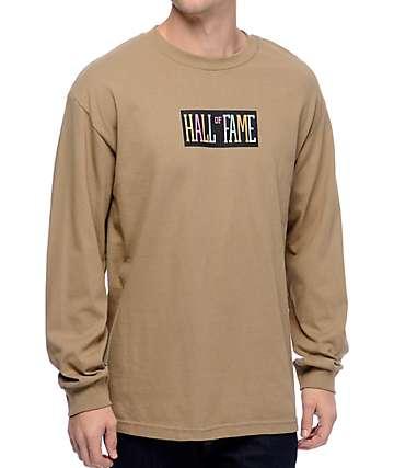 Hall Of Fame Logo Safari Green Long Sleeve T-Shirt