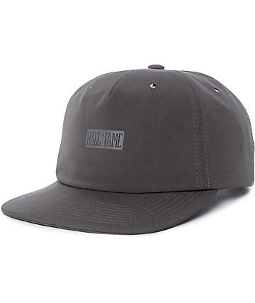 Hall Of Fame Tech Charcoal Strapback Hat