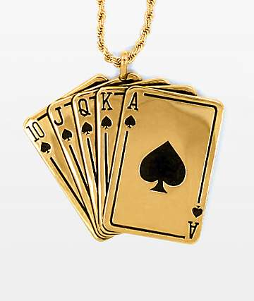 Han Cholo Royal Flush Pendant Necklace