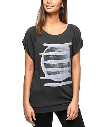 Hanhny Harvest Moon Charcoal T-Shirt