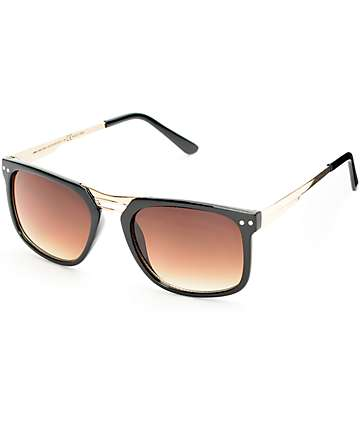Happy Hour Kingstons Black & Gold Sunglasses