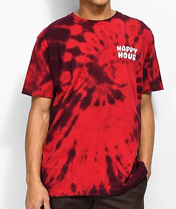 Happy Hour Mr. P Chillin Red Tie Dye T-Shirt