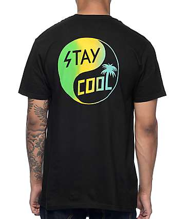 Happy Hour Stay Cool Black T-Shirt