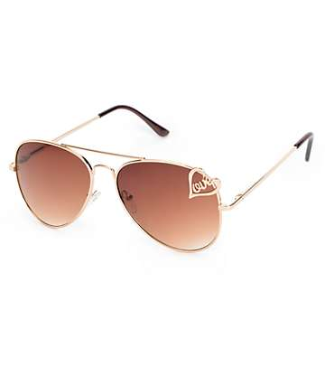 Harlow Love Aviator Sunglasses