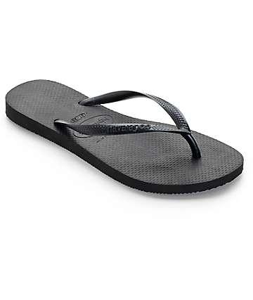 Havaianas Slim Black Flip Flop Sandals