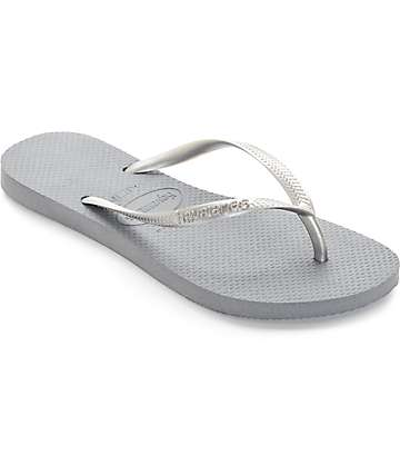 Havaianas Slim Steel Grey Flip Flop Sandals
