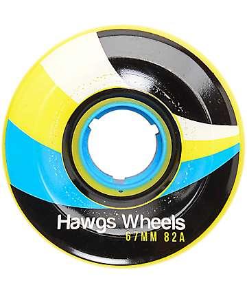 Hawgs 67mm 82a Street Hawgs Yellow Longboard Wheels