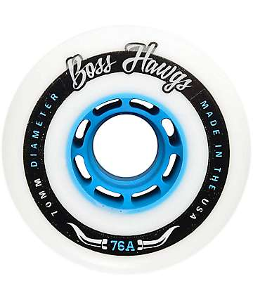 Hawgs 70mm 76a Boss Hawgs Blue Core Longboard Wheels