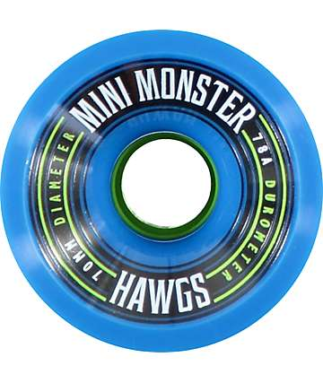 Hawgs Mini Monster 70mm 78a Blue Longboard Wheels