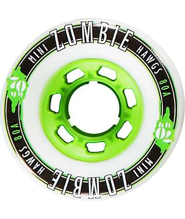 Hawgs Mini Zombies 70mm 78a White Longboard Wheels