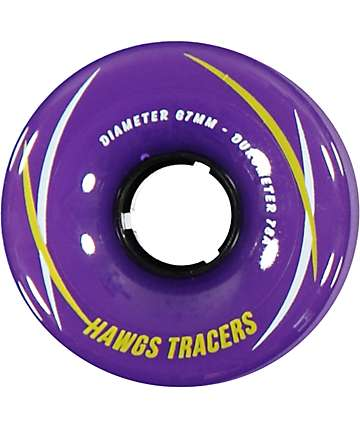 Hawgs Tracers 67mm 78a Purple Longboard Wheels