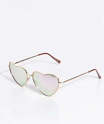 Heart Of gafas de sol espejos corazón