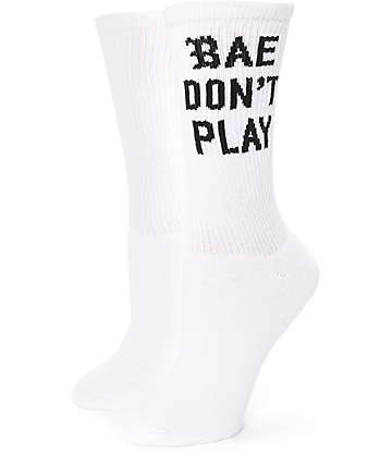 Hellz Bellz Bae Dont Play Crew Socks
