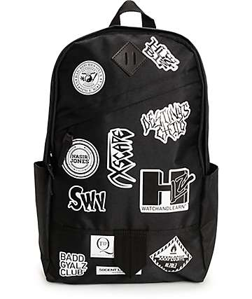 Hellz Bellz Band Aid Black Backpack