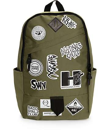 Hellz Bellz Band Aid Olive Backpack