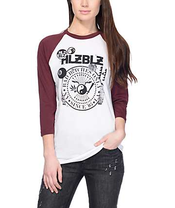 Hellz Bellz Burgundy Baseball T-Shirt
