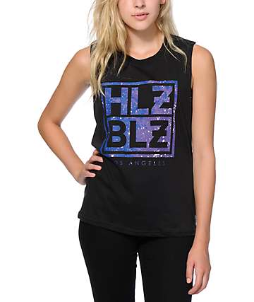 Hellz Bellz Galaxy Muscle Tank Top