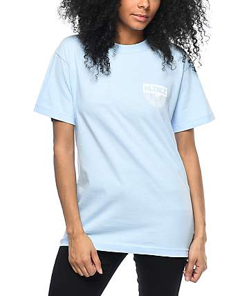 Hellz Bellz Live Fast Light Blue T-Shirt