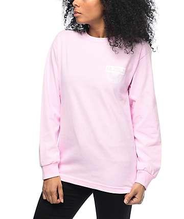 Hellz Bellz Live Fast camiseta rosa de manga larga