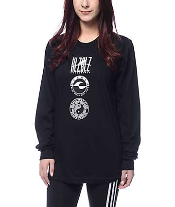 Hellz Bellz Locals Only Black Long Sleeve T-Shirt