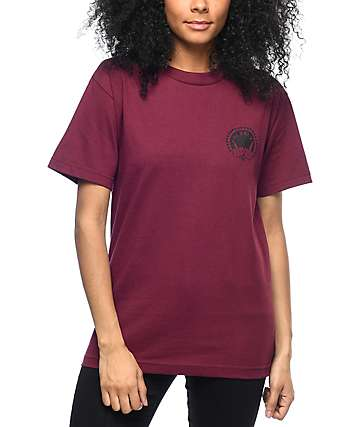 Hellz Bellz Middle Finger Burgundy T-Shirt