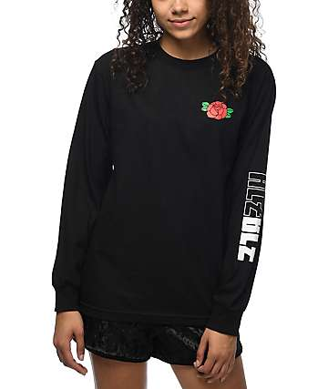 Hellz Bellz Rose Black Long Sleeve T-Shirt