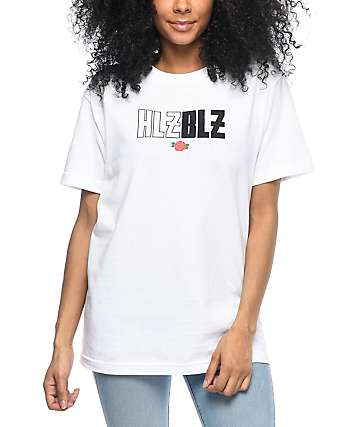 Hellz Bellz Rose White T-Shirt