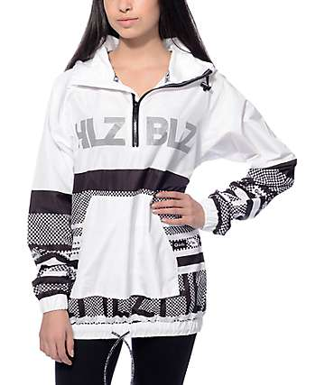 Hellz Bellz White Hologram Windbreaker Jacket