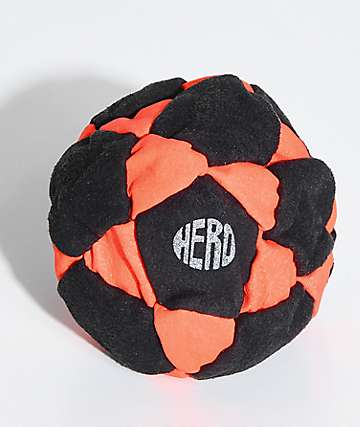 Hero Neon Orange Suede Hacky Sack