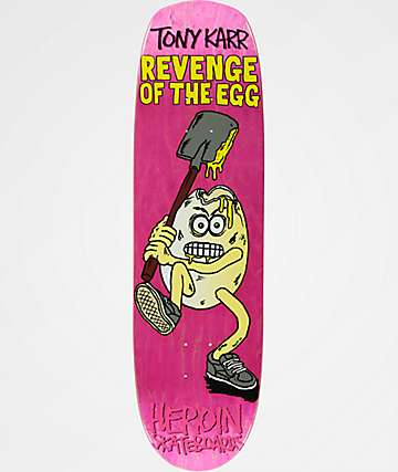 "Heroin Skateboards TK Revenge Of The Egg 8.7"" Skateboard Deck"