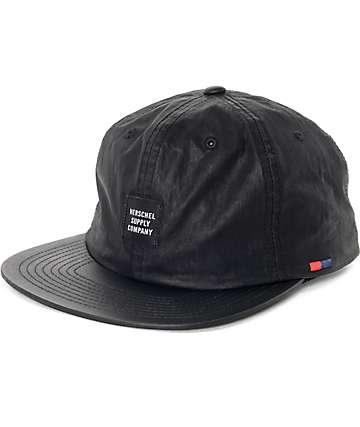 Herschel Albert Carbon Coated Black Snapback Hat