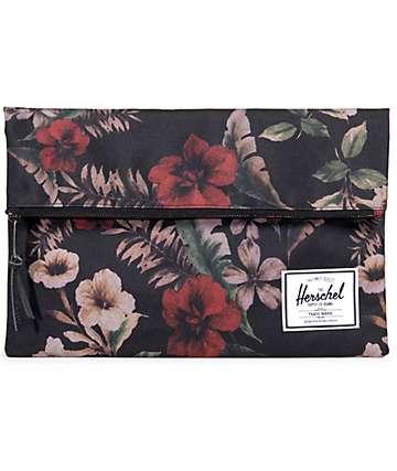 Herschel Carter Foldover Large Floral Bag