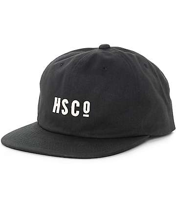 Herschel Mosby Unstructured Black Snapback Hat