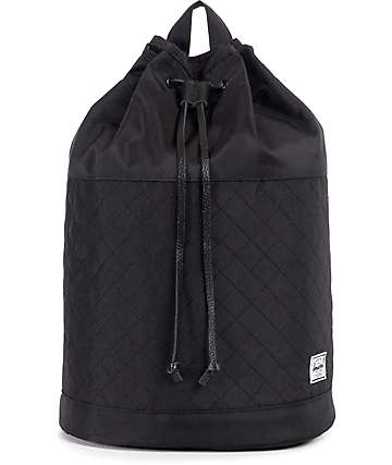 Herschel Supple Hanson Black Quilted 17L Backpack