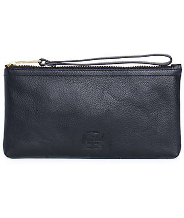 Herschel Supply Casey Black Pebbled Leather Clutch
