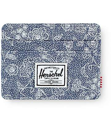 Herschel Supply Charlie Crosshatch Floral Cardholder Wallet